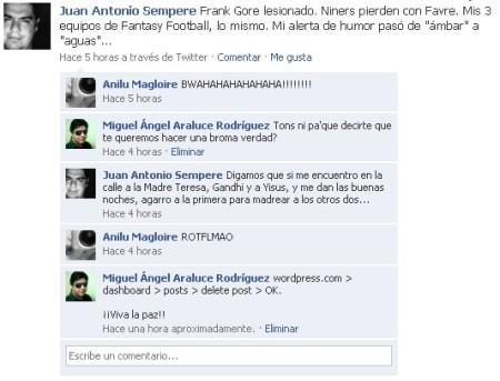 Bien dicho Miguelín, Viva la paz.